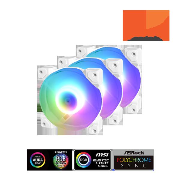 Bộ quạt tản nhiệt ID-Cooling DF-12025-ARGB-TRIO SNOW