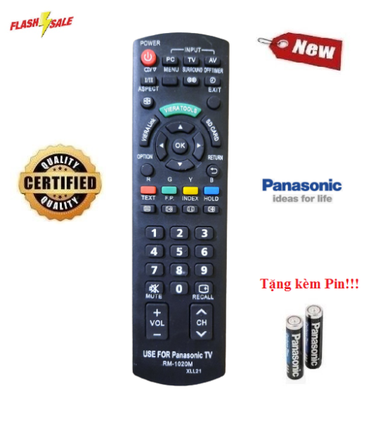 Bảng giá Remote Điều khiển tivi Panasonic RM-1020M LED/LCD/Smart TV- Hàng mới có tặng kèm Pin