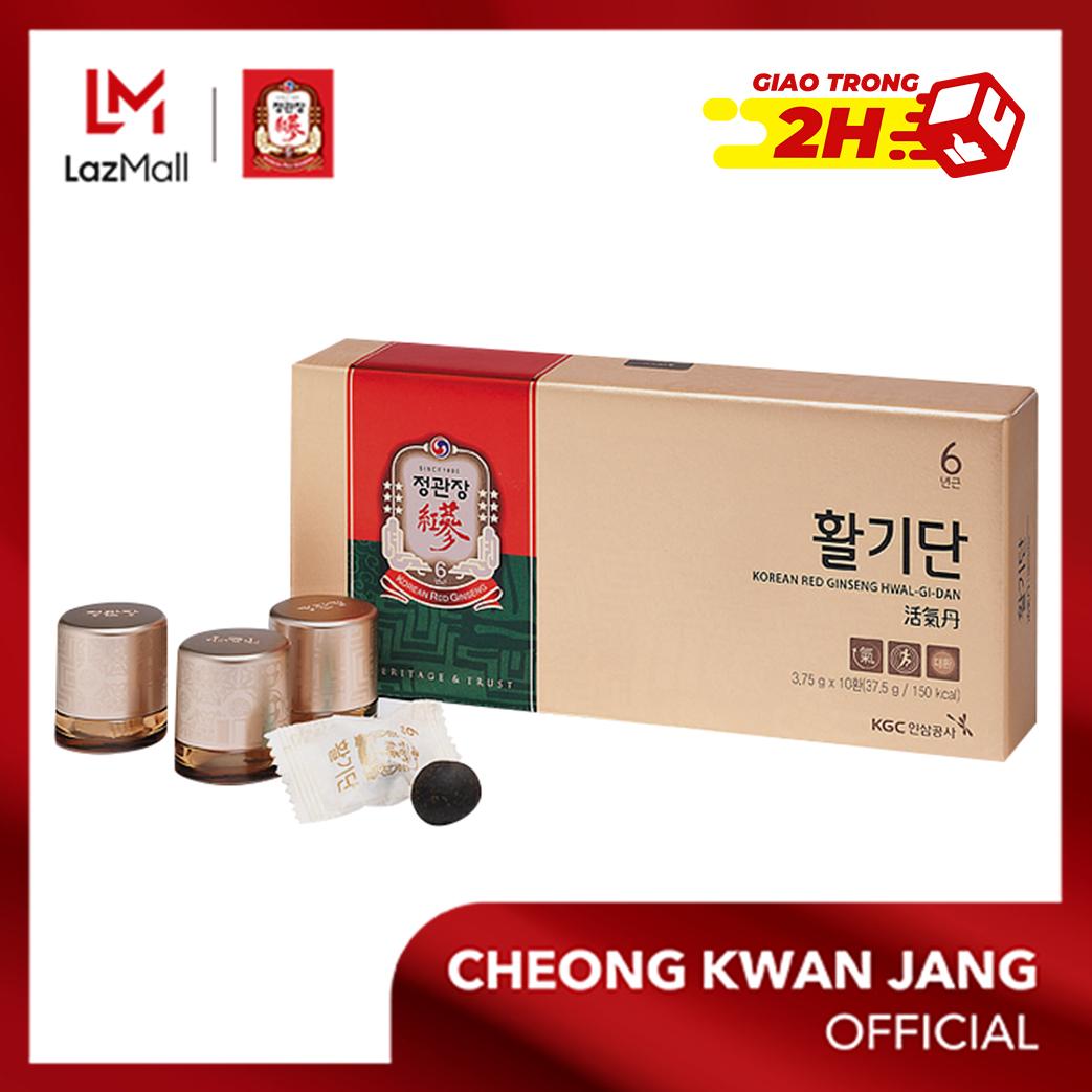 Viên hồng sâm hồi sinh sinh lực KGC Cheong Kwan Jang Vital Pill 3.75g x 10 viên - Phục hồi sức khoẻ, tăng đề kháng, giảm thiểu căng thẳng mệt mỏi