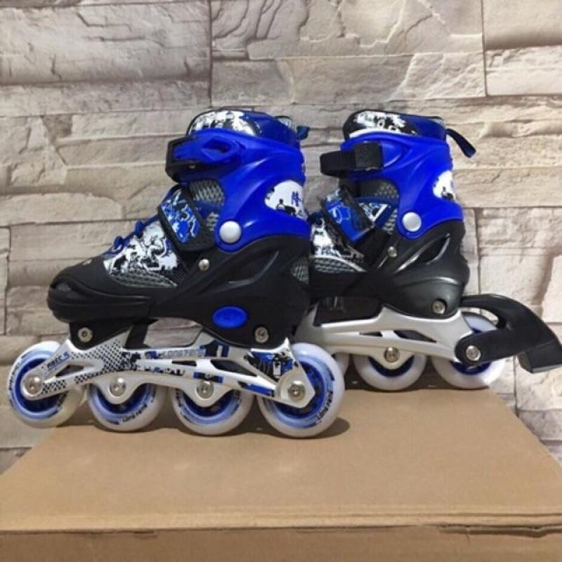 Mua Giày trượt Patin Long Feng 906 có đèn - Đen, xanh, đỏ - Size S,M, L (30 - 42)