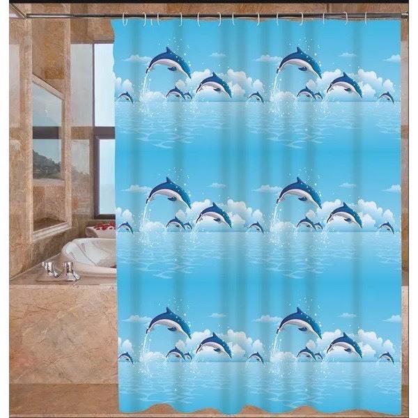 Rèm phòng tắm chống nước 1.8m x 1.8m có móc