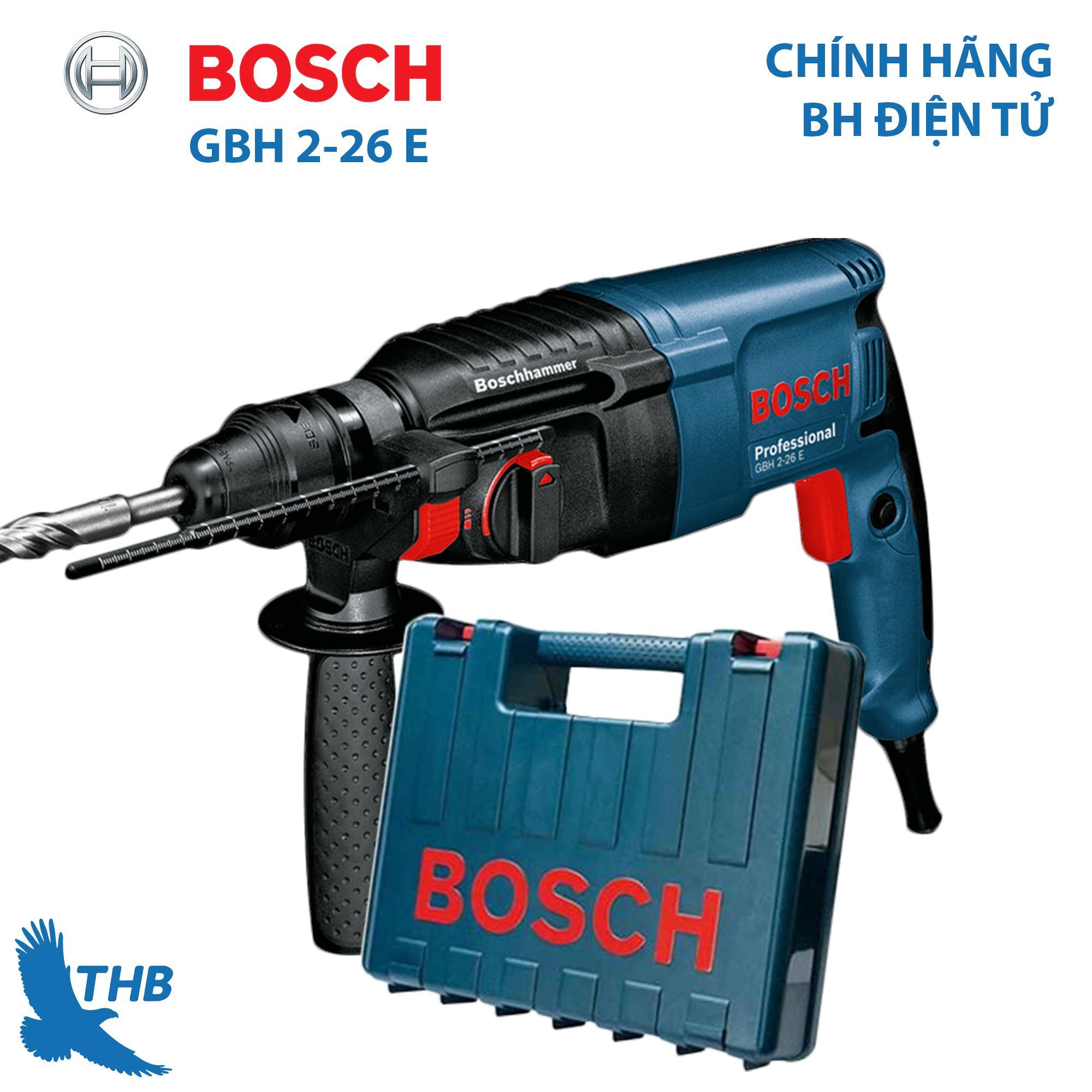 Máy khoan búa Máy khoan bê tông Bosch GBH 2-26 E công suất 800W mũi khoan búa 26mm bảo hành 12 tháng Dòng máy Heavy Duty