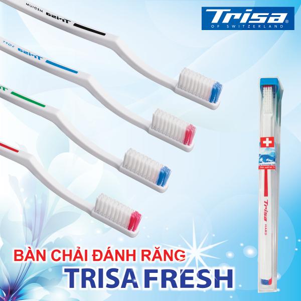Bàn Chải Đánh Răng Trisa Fresh Nhập Từ Thụy Sỹ Cước Hard giá rẻ