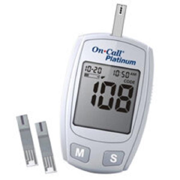 Nơi bán Máy đo đường huyết Oncall Platinum [tặng que thử + kim lấy máu]