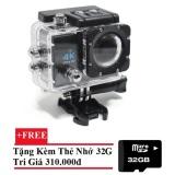 Giá Bán Camera Hanh Động Waterproof 4K Sports Wifi Led 4K Ultra Hd Dv Đen Tặng Thẻ Nhớ 32Gb Mới Nhất