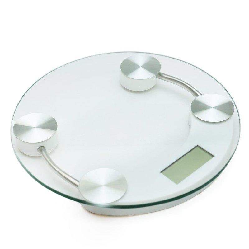 Cân điện tử, cân sức khỏe, cân điện tử, cân y tế, dụng cụ đo lường mặt kính cường lực đường kính 26cm nhập khẩu