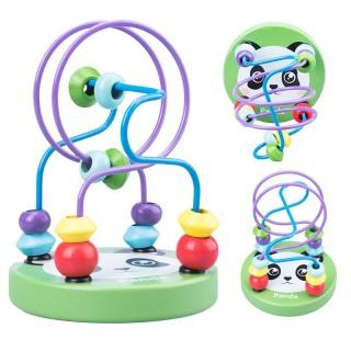 Đồ chơi trẻ em luồn hạt bằng gỗ giúp phát triển kỹ năng vận đông tinh, kích thích phát triển trí não cho bé gái và trai từ 0 đến 3 tuổi thumbnail