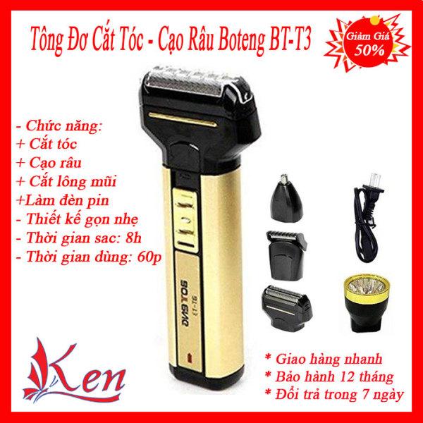 Bảng giá Tông đơ cắt tóc - tông đơ cạo râu cao cấp Boteng BT-T3 4 in 1 - máy cạo râu - máy cắt tóc - máy tỉa lông mũi - đèn pin Điện máy Pico