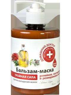 Dầu xả ba tác động chống rụng tóc Domashnij Doctor 500ml thumbnail