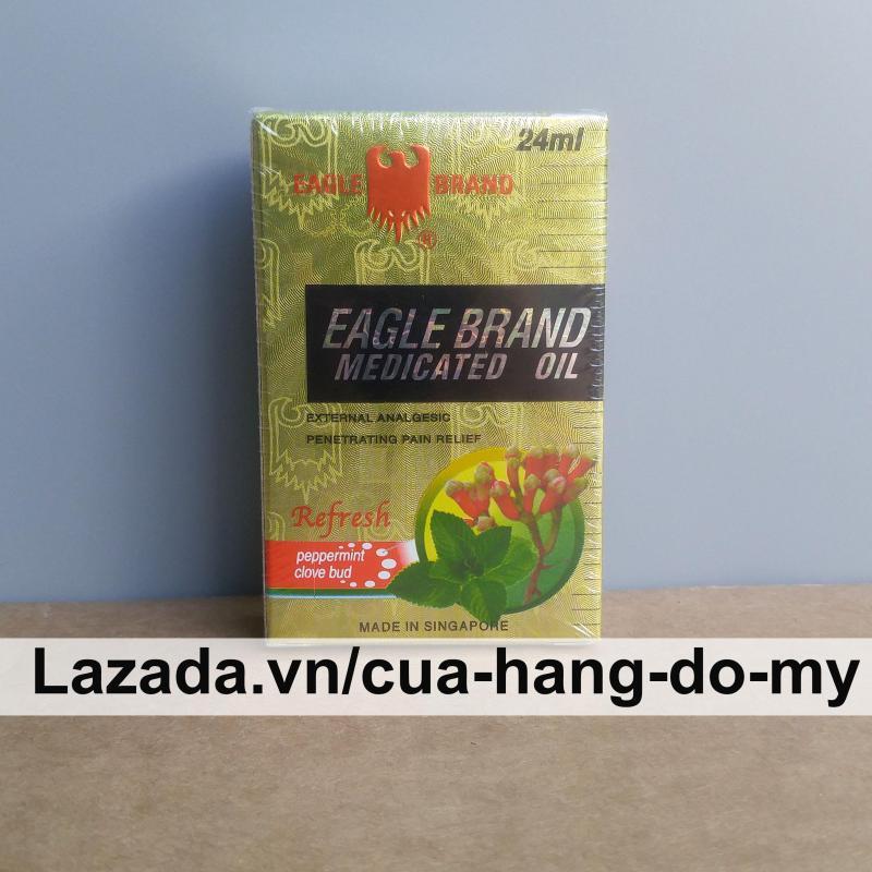 Dầu Gió Vàng Singapore Con Ó Eagle Brand 24ml tốt nhất