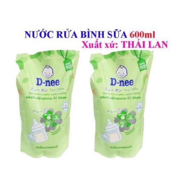 combo 2 túi rửa bình sữa và rau củ dnee 600ml