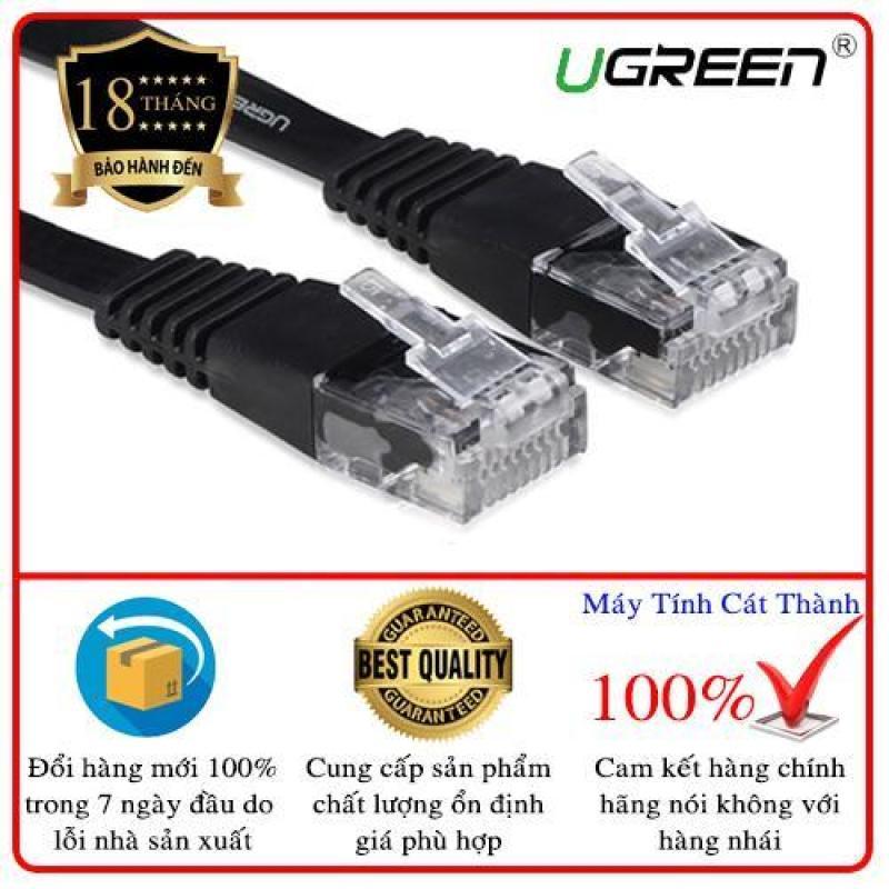 Bảng giá Dây mạng 2 đầu đúc Cat6 UTP dây dẹt dài 20m UGREEN NW104 11221 (đen) Phong Vũ