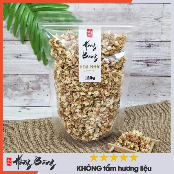 HOA NHÀI_100g Hồng Bàng (trà hoa nhài sấy khô làm trà dưỡng nhan trà giảm cân, không tẩm hương liệu không chất bảo quản)