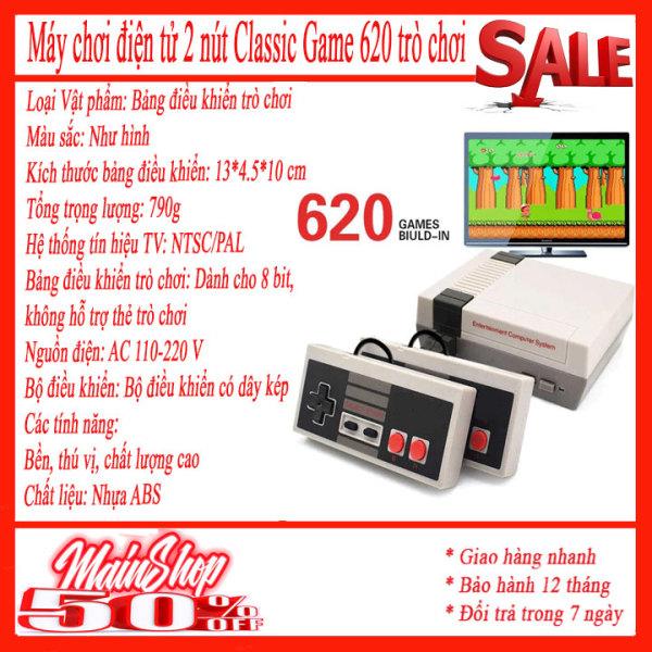Máy chơi game - 2 nút cầm tay classic 620 game tặng 2 Bộ Tay Game- kết nối tivi ( Cổng AV ) 2 người chơi , máy chơi gamer điện tử