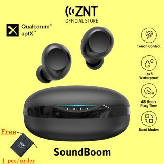 [MỚI] Tai Nghe Bluetooth ZNT SoundBoom Qualcomm aptX TM Bluetooth 5.0 Âm trầm Chống nước IPX5 Sử dụng Liên Tục 20h Kèm Hộp sạc thumbnail