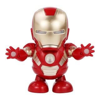 Robot nhảy múa Iron Man lật mặt nạ có đèn LED siêu đẹp siêu vui nhộn cho bé thumbnail