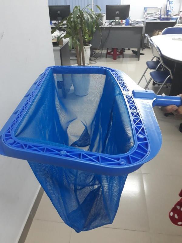 Combo 02 vợt vớt rác sâu vành nhựa dùng trong việc vệ sinh hồ bơi / Túi rác sâu lòng nhựa