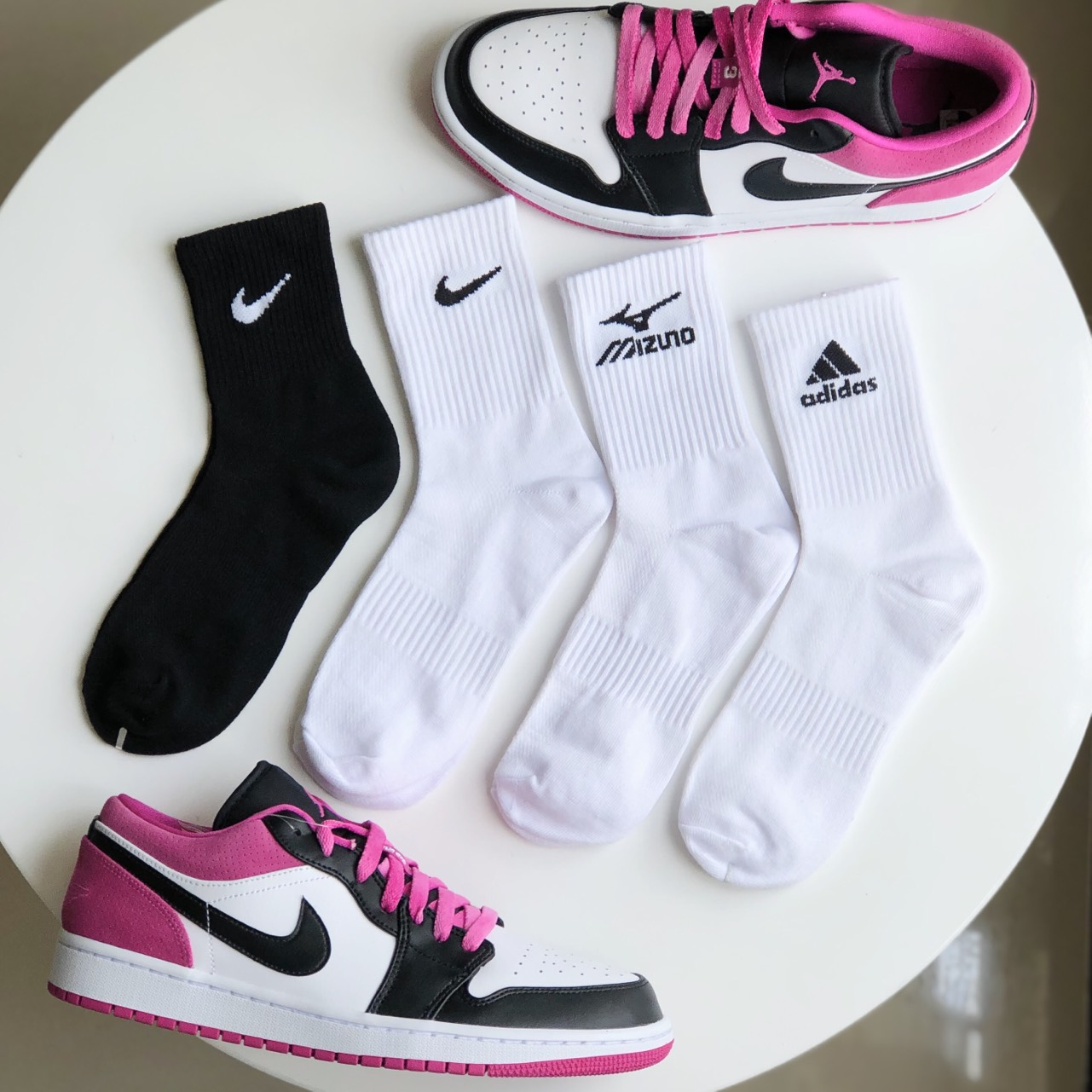 [HCM]Tất Cổ Cao - Vớ Nam Nữ Adidas Nike Mizuno Hàng VNXK Dệt Kim Chống Hôi Chân
