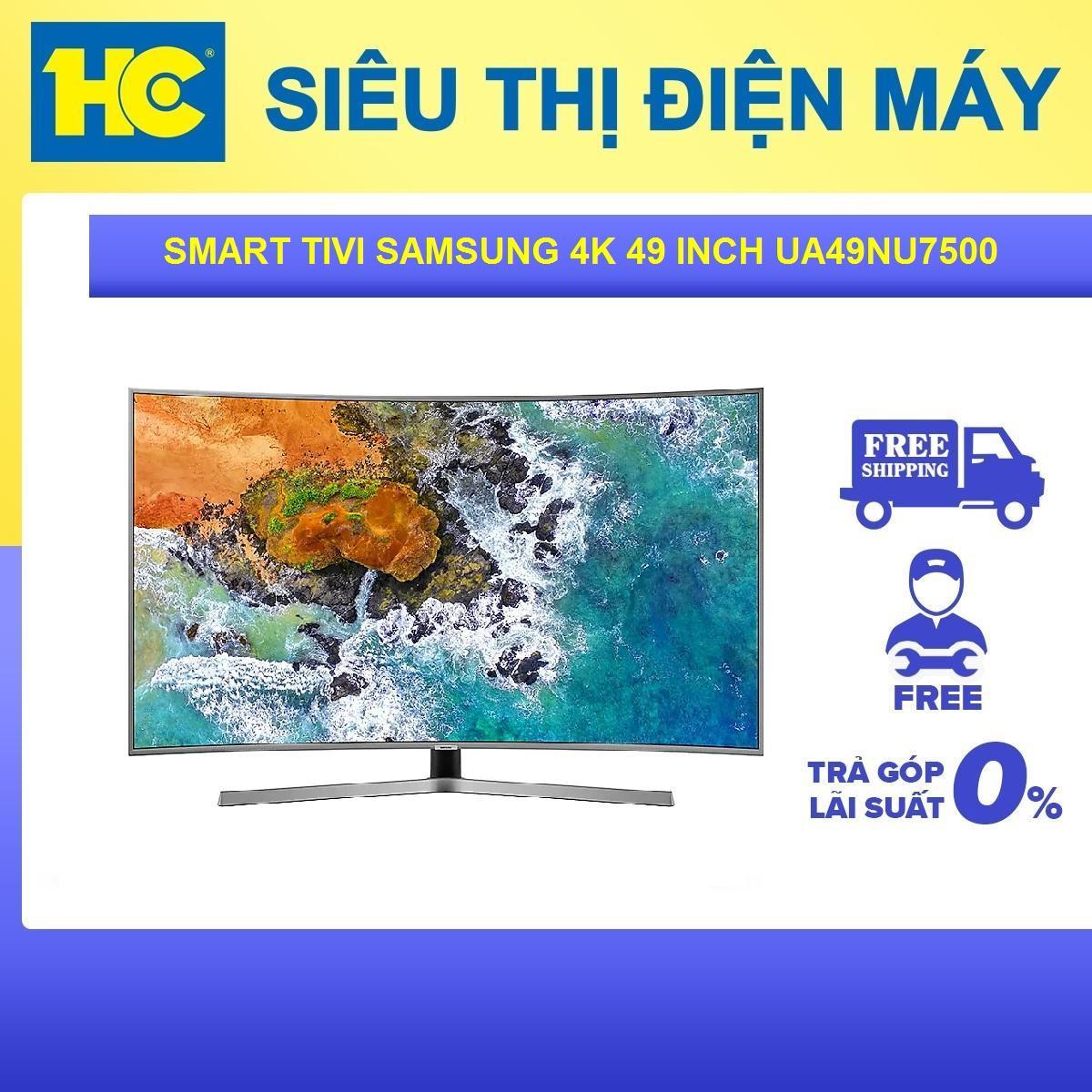 Bảng giá Smart Tivi Samsung 49 inch 4K UA49NU7500KXXV - Bảo hành 2 năm - Miễn phí vận chuyển & lắp đặt - hỗ trợ trả góp