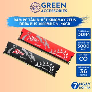 Ram PC Tản Nhiệt Kingmax Zeus DDR4 16GB 8GB Bus 3000mHz - Hàng Nhập Khẩu Bảo Hành 36 Tháng thumbnail