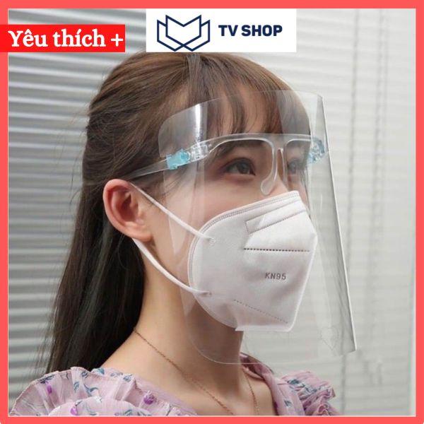 COMBO 2 Mắt kính bảo hộ Face Shield kính chống giọt Bắn Bảo Hộ Chống Dịch - kính Che Mặt Y Tế, miếng nhựa được phủ lớp Chống Trầy, Không Hấp Hơi và Đọng Sương Mù Khi Thở cao cấp