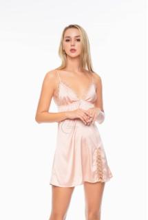 Dreamy VX09 Váy ngủ lụa cao cấp dáng xòe phối ren 3D xẻ tà quyến rũ, Váy ngủ lụa cao cấp, váy ngủ nữ, váy ngủ 2 dây, váy ngủ gợi cảm ,váy ngủ sexy,đầm ngủ lụa mặc nhà có ba màu đỏ đô, xanh đen và màu hồng pastel thumbnail