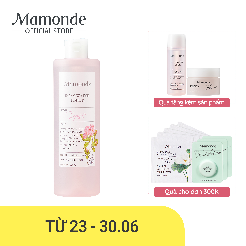 Nước Hoa Hồng Cung Cấp độ ẩm Mamonde Rose Water Toner 250ml Đang Có Khuyến Mãi
