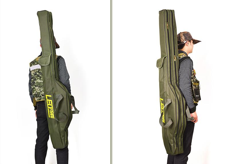 Túi đựng cần câu thanh bụng 1,5m - Xanh bộ đội