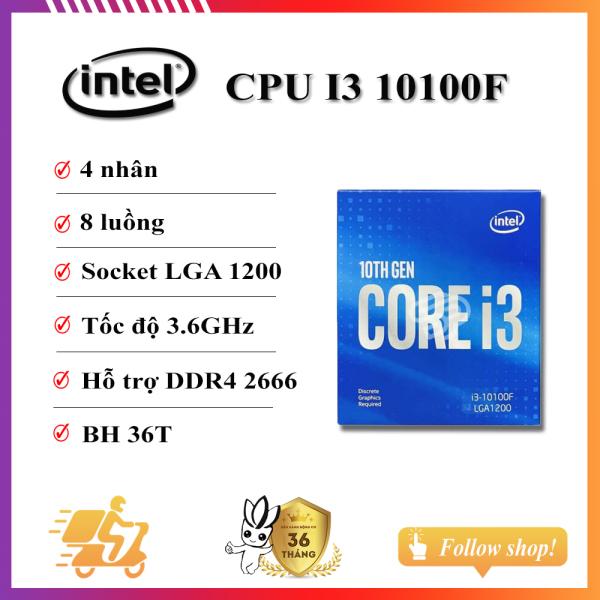 Bảng giá Vi xử lý - CPU Intel Core i3 10100f Phong Vũ