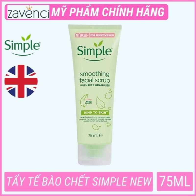 Tẩy tế bào chết da mặt simple  Kind To Skin Smoothing Facial Scrub (75ml)