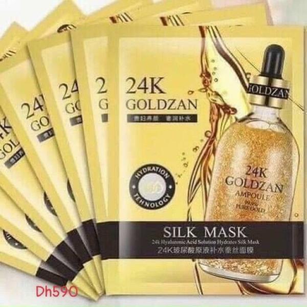 MẶT NẠ VÀNG  24K  GOLDZAN SILK Mask CAO CẤP BÍ QUYẾT cho làn da CĂNG BÓNG , TRẮNG HỒNG RẠNG RỠ