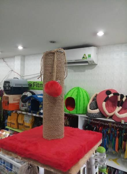 Cattree - Trụ cào móng đơn cho mèo kèm quả bóng vải-Aralepetshop