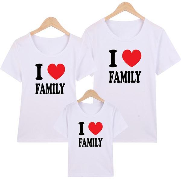 Áo Thun Gia Đình in hình I Love Family  EGDM19 Thương Hiệu Elsa