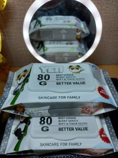 Combo 6 gói khăn ướt JETI 80gr, Hàng xuất Thái, Không mùi, Giá sốc thumbnail