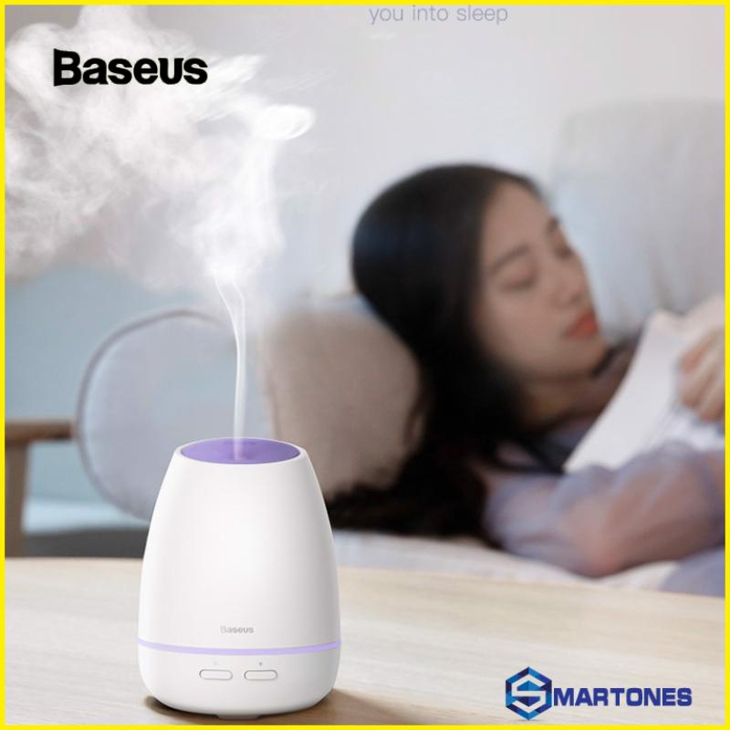 Máy phun sương, tạo ẩm, khuếch tán tinh dầu Mini Baseus Creamy-White Aroma (90ml, USB 5V, Ultrasonic Air Diffuser/ Humidifier Atomizer)