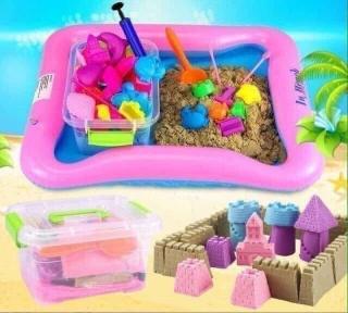 CÁT NẶN SINH HỌC CHO BÉ-Hộp đồ chơi đất nặn có khuôn hình cho bé , đồ chơi đất sét cho trẻ em , cát nặn cho bé , đồ chơi thủ công bằng đất sét cho trẻ,kích thích phát triển năng khiếu(bộ gồm cát nặn+ phao+bơm+20 chi tiết) thumbnail