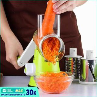 Máy nạo rau củ quả cầm tay đa năng VegaVN 3 đầu nạo thay thế - Máy Nạo Củ Quả, Bào Sợi 3 Đầu Tiện Dụng cho mọi gia đình (Xanh) thumbnail