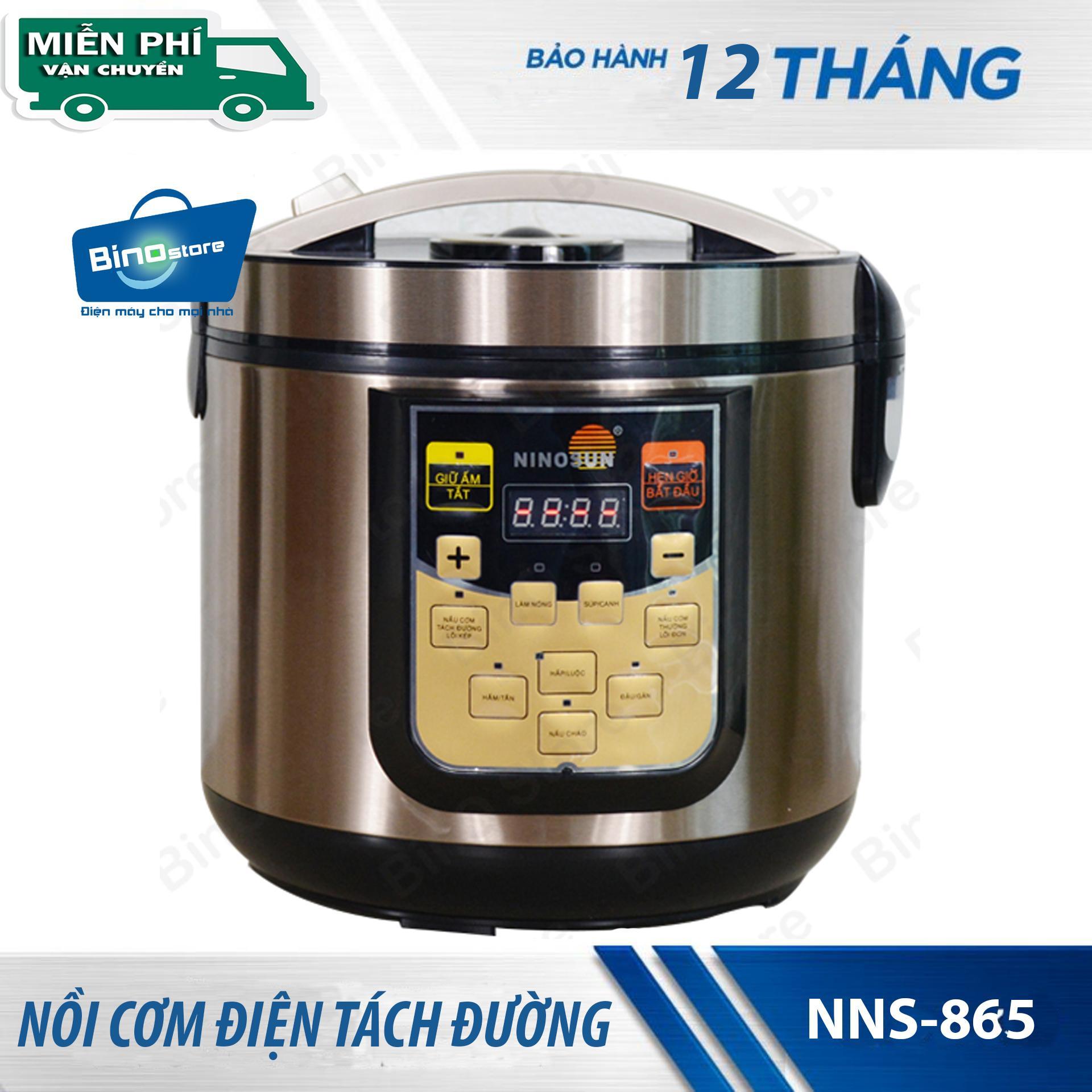 Nồi cơm tách đường Ninosun NNS-865 + tặng kèm voucher 30k