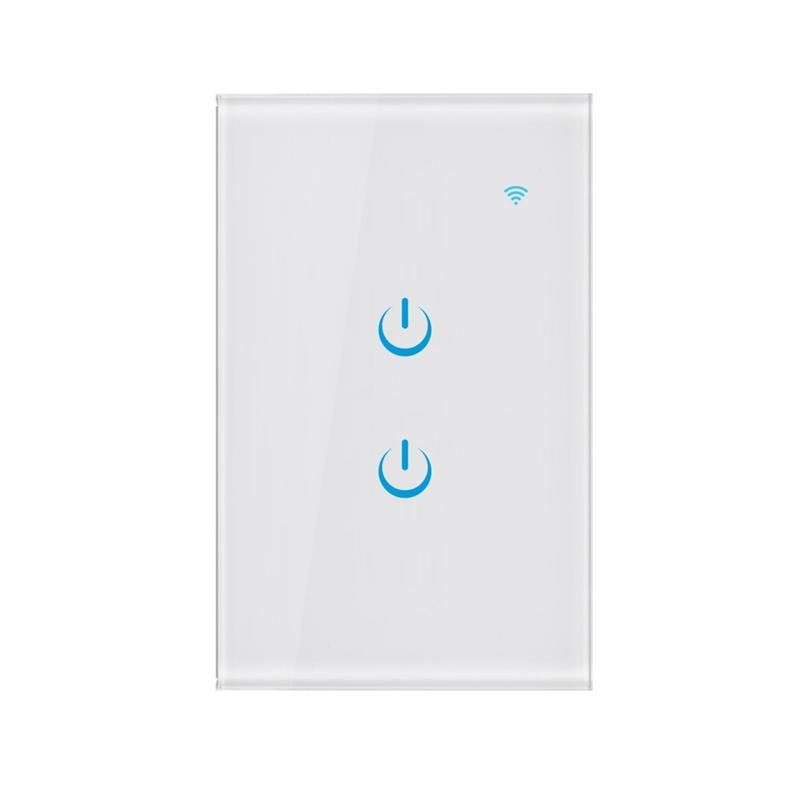 Tuya Smart Life App Smart Wifi Switch Light Wall Panel Switch Wireless EU Works with Alexa Google Home Mini IFTTT US Plug