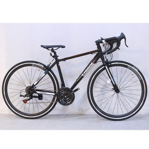 Mua Xe đạp đua TrinX Tempo 1.0, Phiên bản 2021, Khung sườn hợp kim nhôm 700Cx46cm, Bộ truyền động Shimano-21Speed, Bộ phanh chữ V Winzip, Vành bánh hợp kim nhôm 2 lớp 700X25C, Màu Trắng Đen