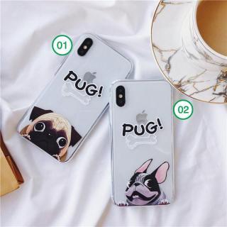 Ốp điện thoại cún PUG cho Iphone 6 6s 6 plus 6s plus 7 8 7 plus 8 plus x xs xr xsmax 11 pro max 12promax 12mini- ốp iphone - ốp silicon (a48) thumbnail