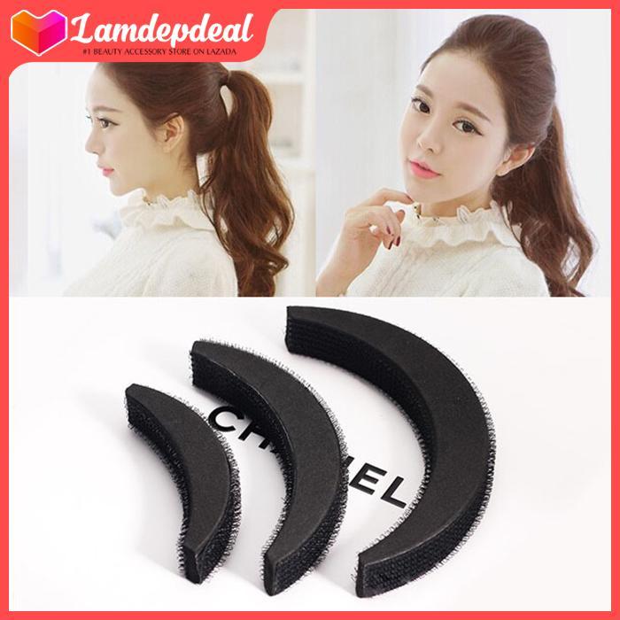 Lamdepdeal - Combo 3 miếng đệm phồng tóc cao cấp - cách đơn giản để có mái tóc phồng đáng yêu -Dụng cụ làm tóc tốt nhất