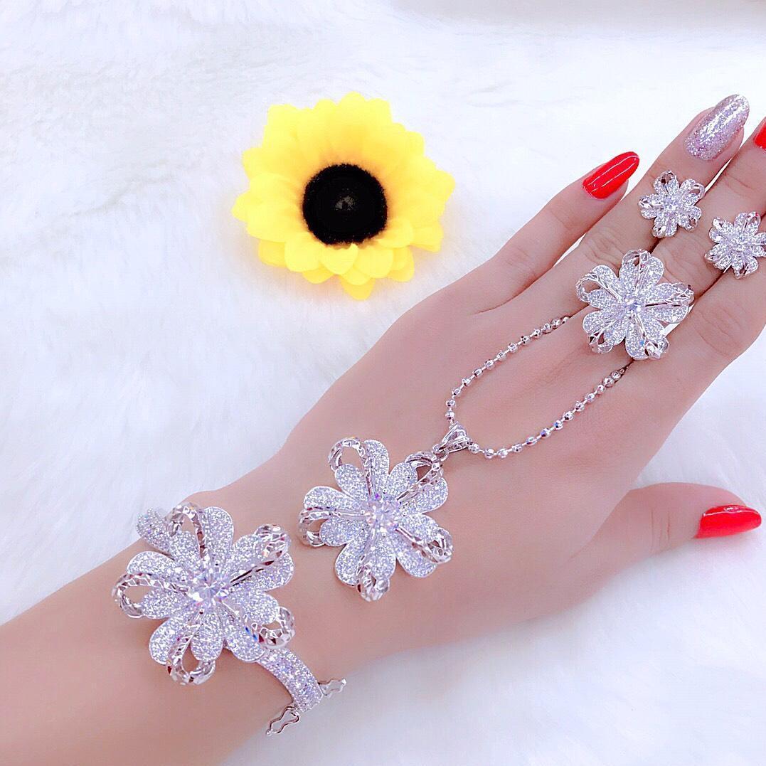Bộ trang sức bạcMidoshop KB428051907 - đeo làm công sở cực sang chảnh và quý phái