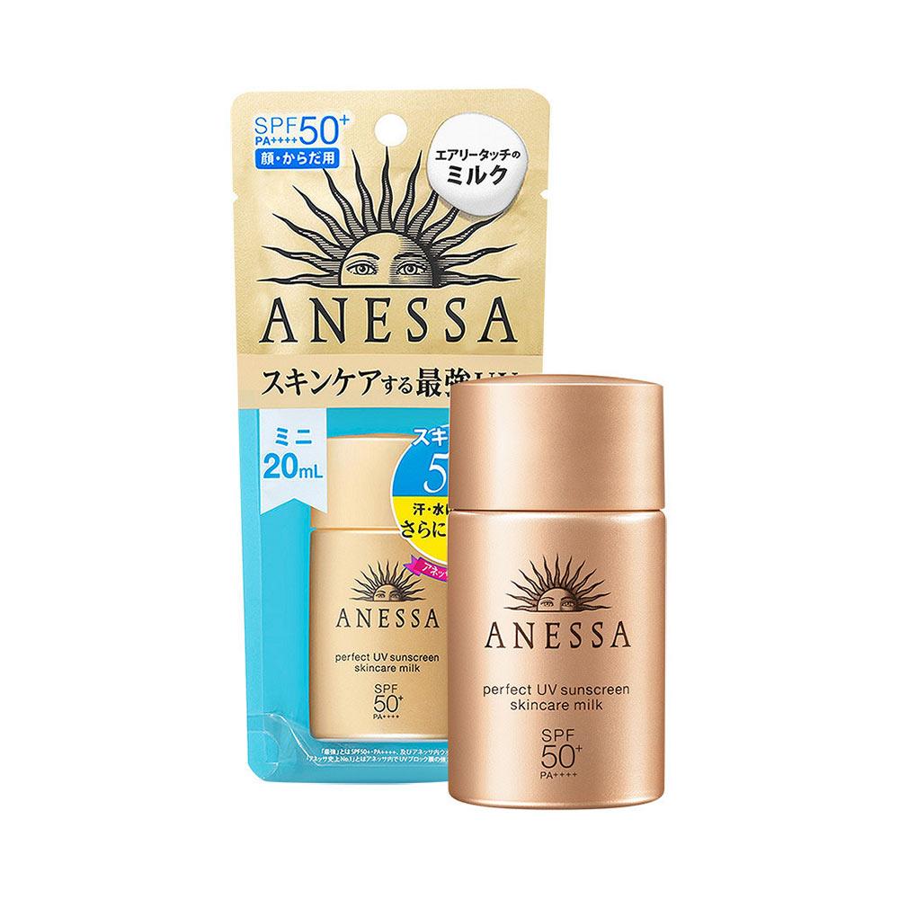 Kem chống nắng dưỡng da dạng sữa bảo vệ hoàn hảo Anessa Perfect UV  Sunscreen Skincare Milk 20ml   Lazada.vn