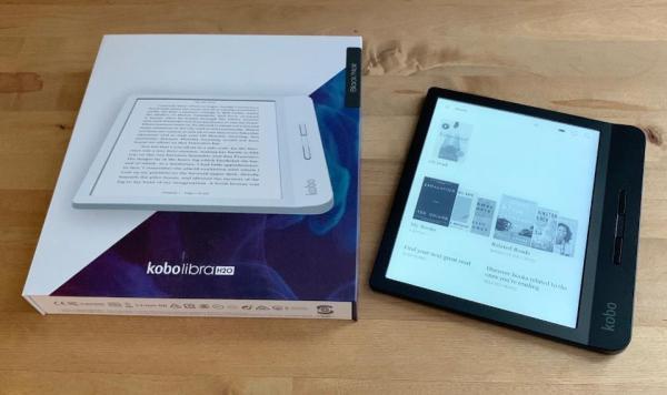 Máy đọc sách Kobo Libra - nguyên seal - bảo hành 12 tháng - hỗ trợ cài đặt online