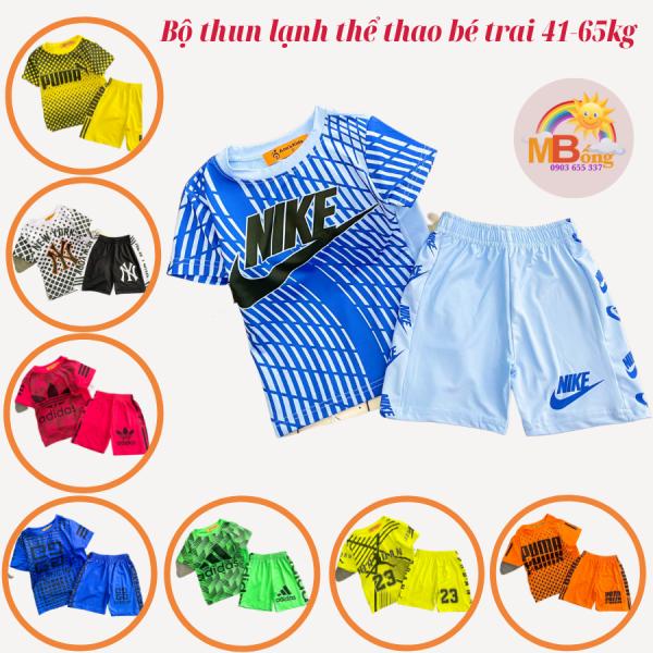 Nơi bán [Freeship+tặng quà][41-65kg] Bộ thun lạnh bé trai in 3D kiểu dáng thể thao size đại cồ- Bộ quần áo bé trai shop Mẹ Bống