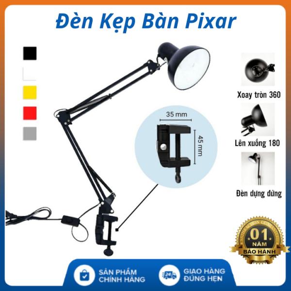 (Bảo Hành 12 Tháng) Đèn kẹp bàn pixar có khả năng xoay các góc tiện lợi , thiết kế đẹp trang trí bàn làm việc - đèn học kẹp bàn