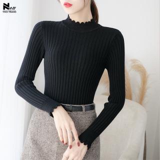 Áo Len Kẻ Sọc Cách Điệu - New Thoi Trang thumbnail
