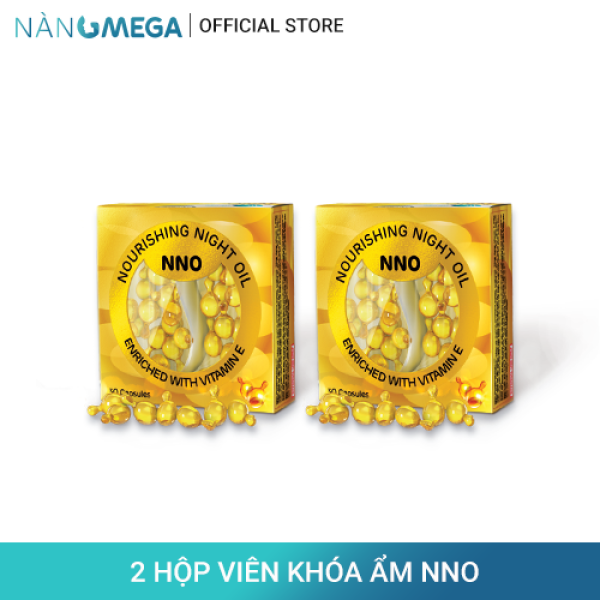 Combo 2 hộp viên khóa ẩm NNO hộp 30 viên chiết xuất từ dầu jojoba & vitamin E thiên nhiên giúp giảm khô sạm da (2 hộp/hộp x 30 viên) giá rẻ