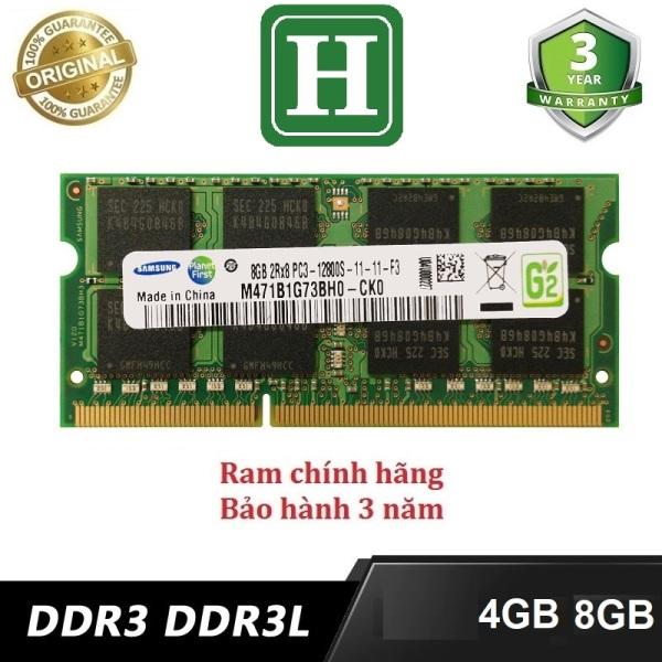Bảng giá Ram Laptop 4Gb, 8Gb PC3L (DDR3L) bus 1600 và một số loại khác, hàng tháo máy chính hãng, bảo hành 3 năm Phong Vũ